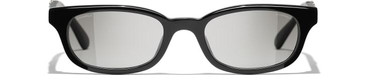 image 2 - Rectangle Sunglasses - Acetate - Black