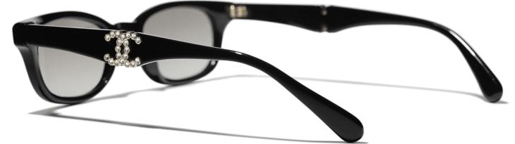 image 4 - Rectangle Sunglasses - Acetate - Black