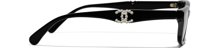 image 3 - Rectangle Sunglasses - Acetate - Black