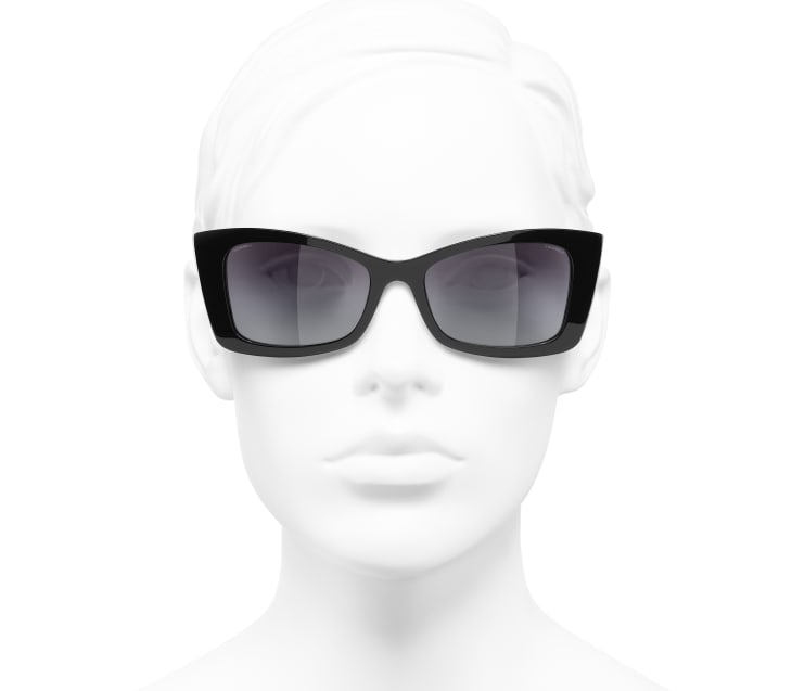 image 5 - Rectangle Sunglasses - Acetate - Black