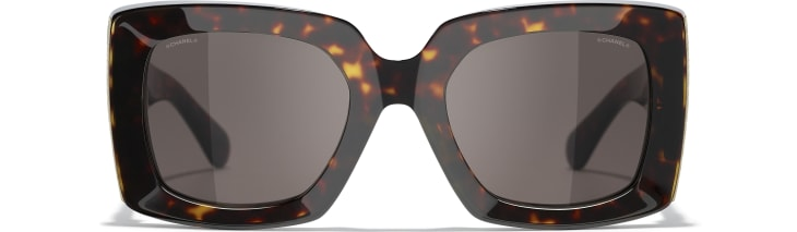 image 2 - Rectangle Sunglasses - Acetate - Dark Tortoise & Gold