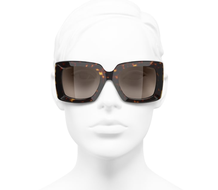 image 5 - Rectangle Sunglasses - Acetate - Dark Tortoise & Gold