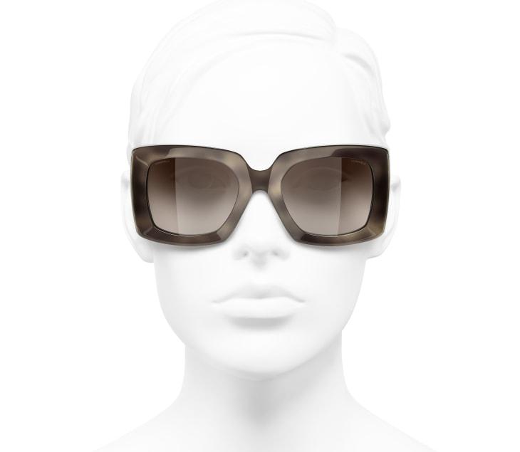 image 5 - Rectangle Sunglasses - Acetate - Tortoise & Silver