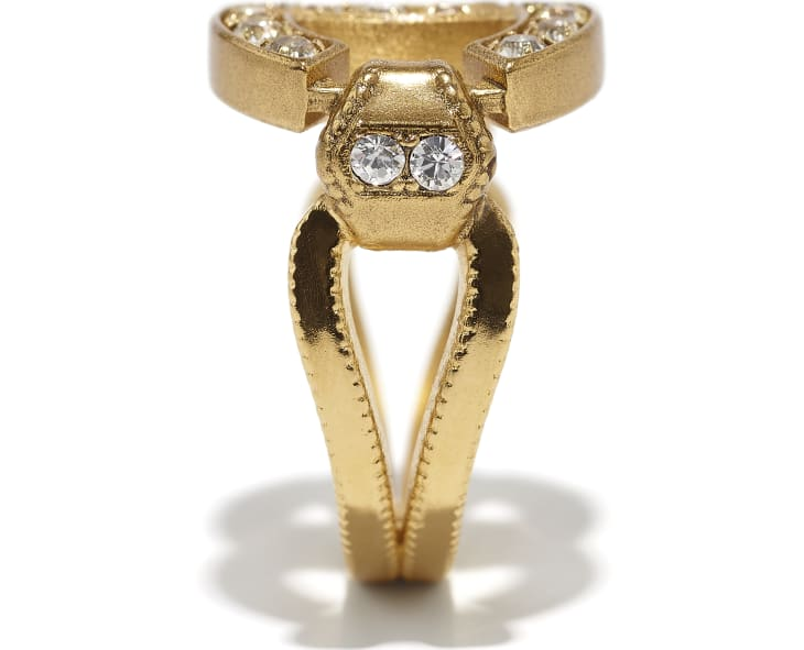 image 2 - Ring - Metal & Strass - Gold & Crystal