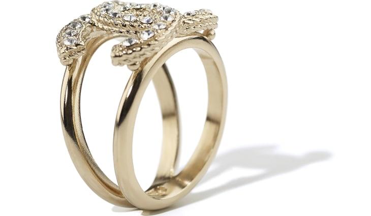 image 2 - Ring - Metal & Strass - Gold & Crystal