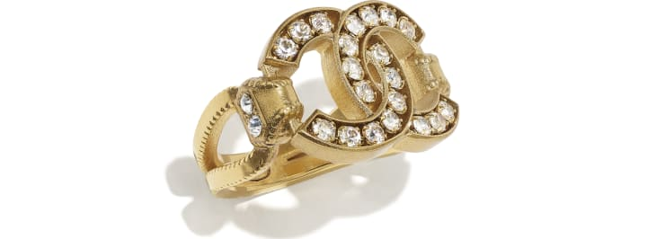 image 1 - Ring - Metal & Strass - Gold & Crystal