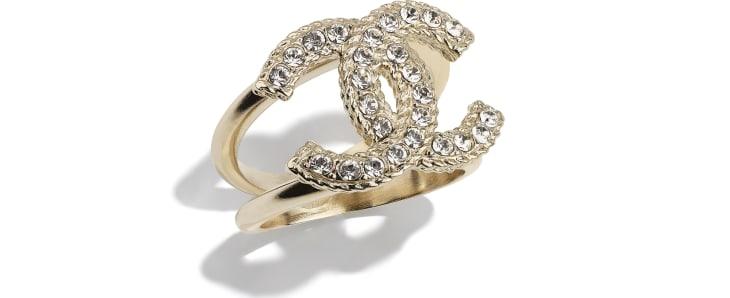 image 1 - Ring - Metal & Strass - Gold & Crystal