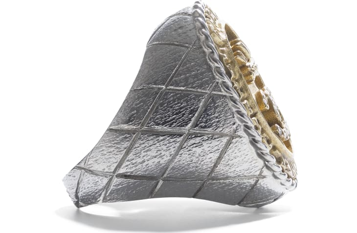 image 2 - Ring - Metal & Strass - Silver, Gold & Crystal