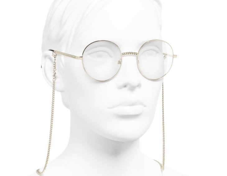 image 6 - Round Eyeglasses - Metal - Gold
