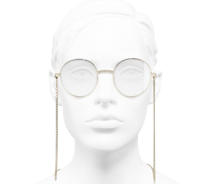 image 5 - Round Eyeglasses - Metal - Gold