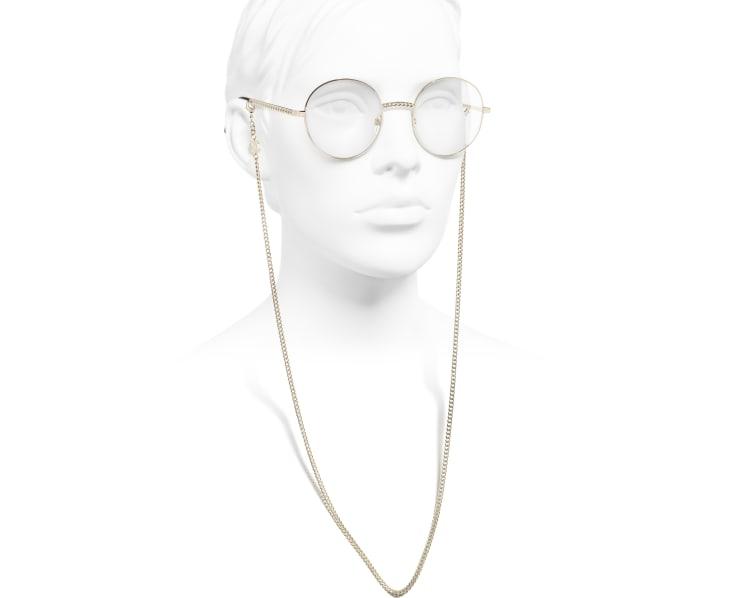 image 7 - Round Eyeglasses - Metal - Gold