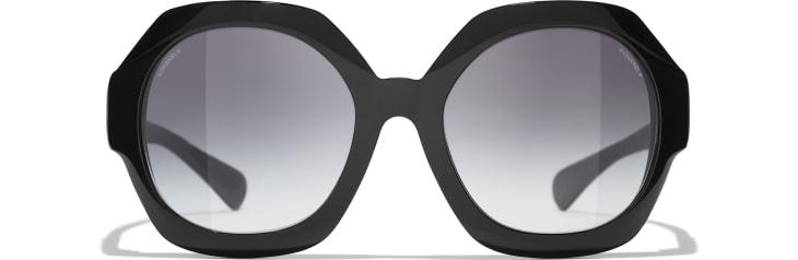 image 2 - Round Sunglasses - Acetate - Black