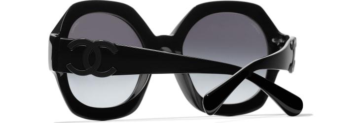 image 4 - Round Sunglasses - Acetate - Black