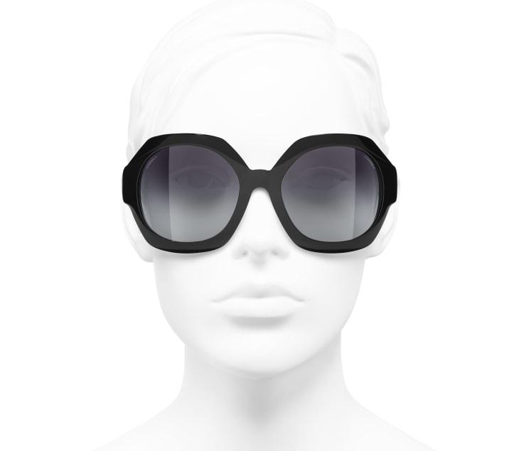 image 5 - Round Sunglasses - Acetate - Black