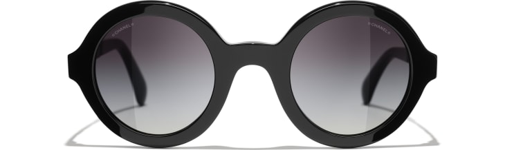image 2 - Round Sunglasses - Acetate & Metal - Black