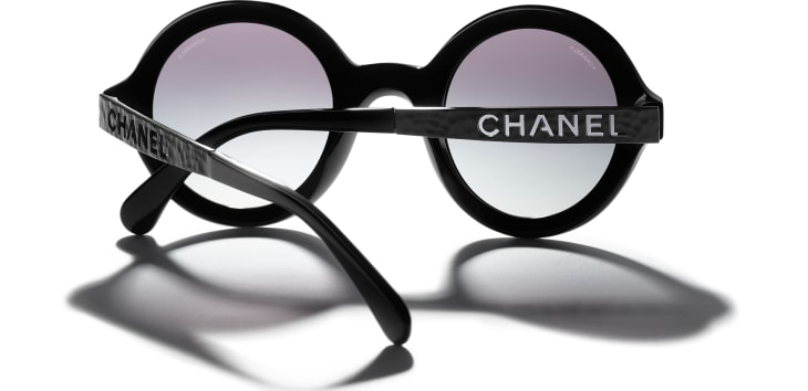 image 4 - Round Sunglasses - Acetate & Metal - Black