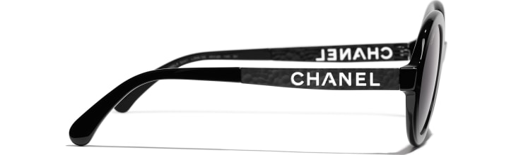 image 3 - Round Sunglasses - Acetate & Metal - Black