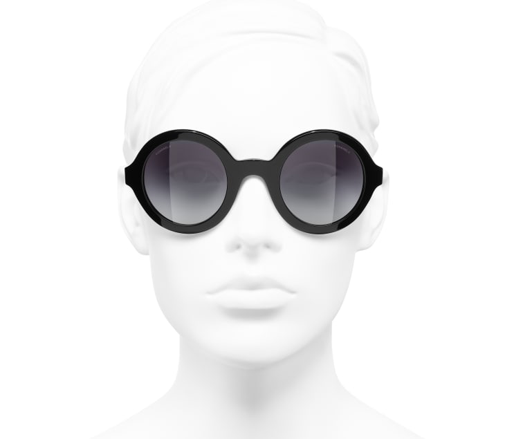 image 5 - Round Sunglasses - Acetate & Metal - Black