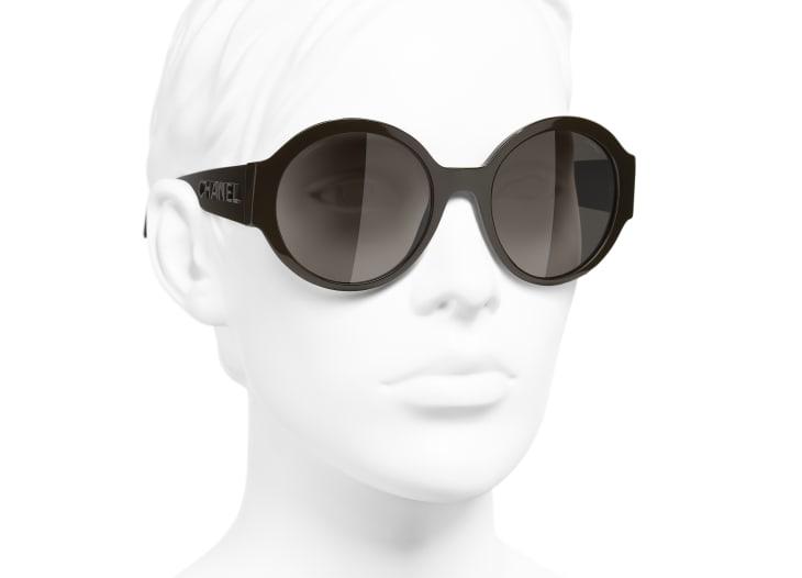 image 6 - Round Sunglasses - Acetate - Brown