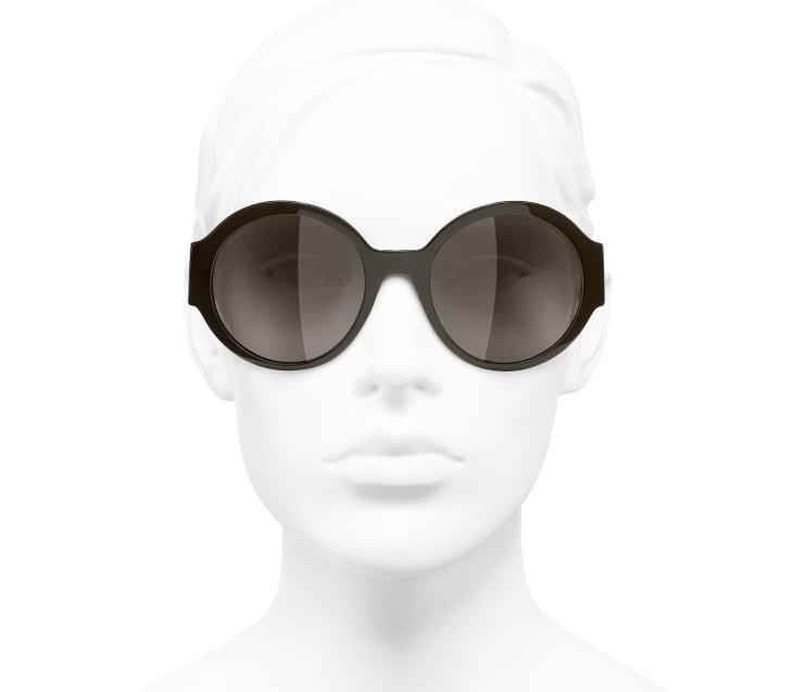 image 5 - Round Sunglasses - Acetate - Brown