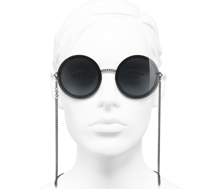 image 5 - Round Sunglasses - Metal - Dark Silver