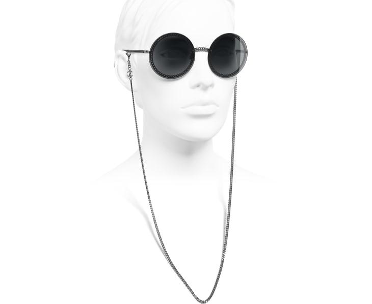 image 7 - Round Sunglasses - Metal - Dark Silver