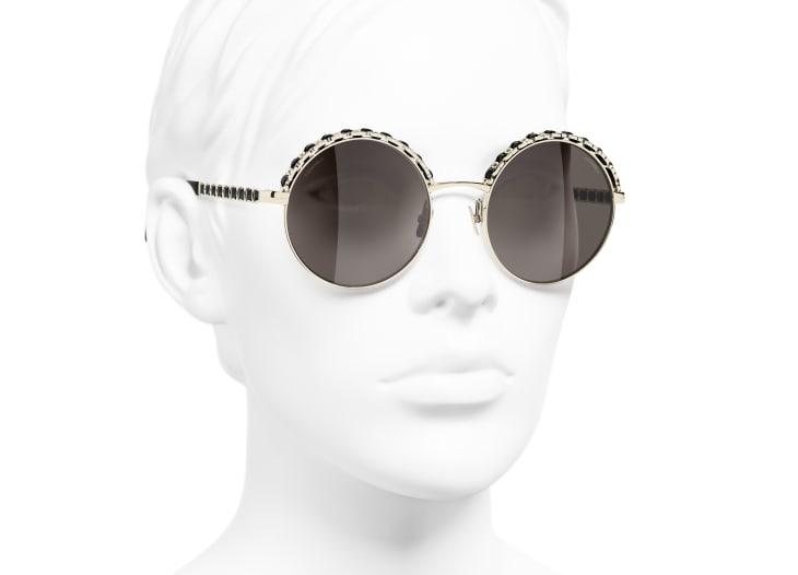 image 6 - 선글라스 - 메탈, 램스킨 - 골드, 블랙