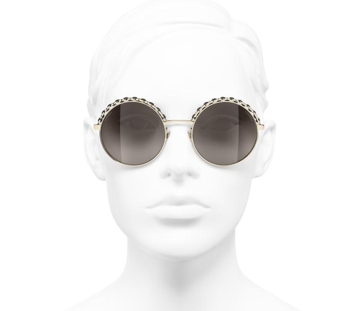 image 5 - 선글라스 - 메탈, 램스킨 - 골드, 블랙