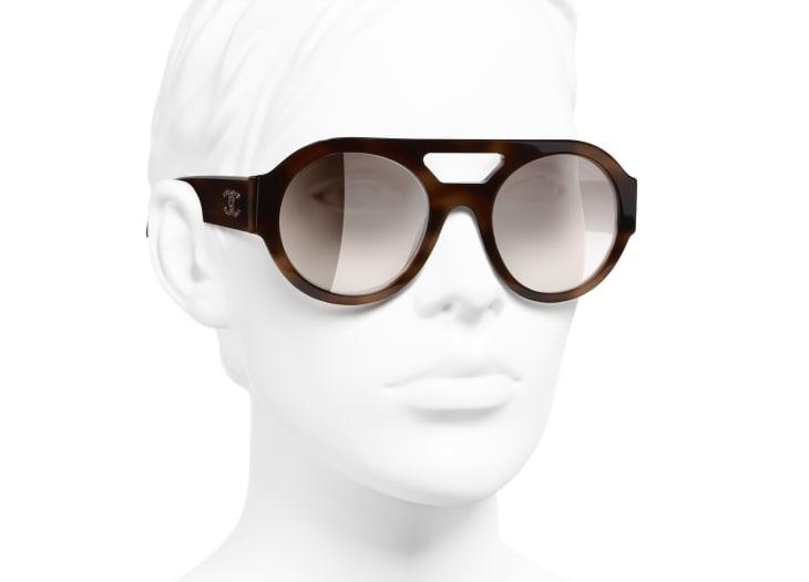image 6 - Óculos De Sol Redondos - Acetato & Strass - Tartaruga