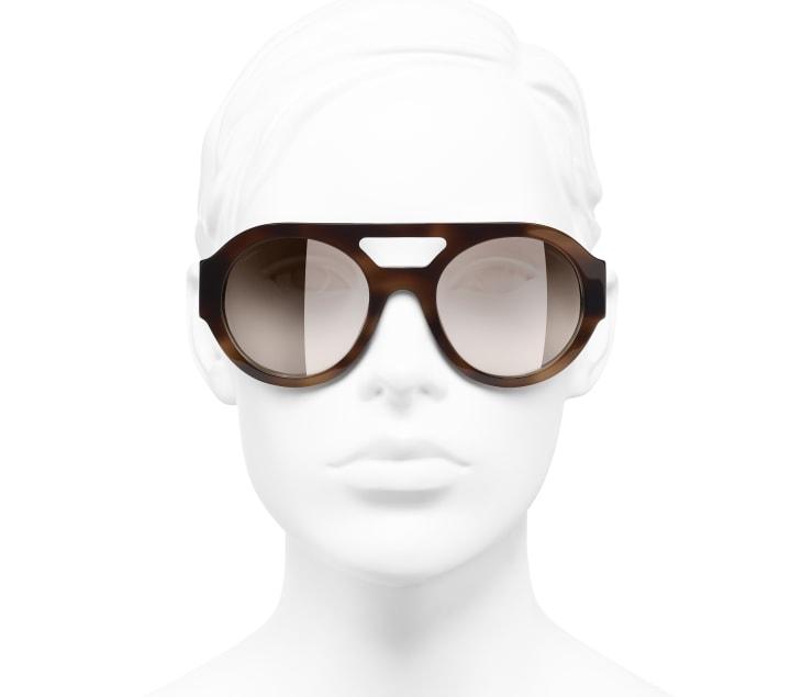 image 5 - Óculos De Sol Redondos - Acetato & Strass - Tartaruga