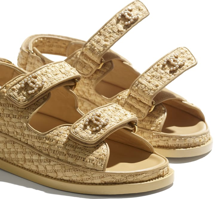 image 4 - Sandals - Braided Fabric - Beige