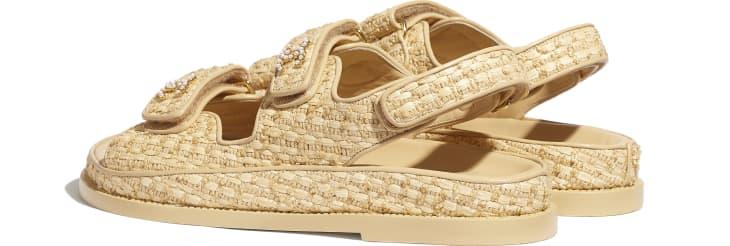 image 3 - Sandals - Braided Fabric - Beige