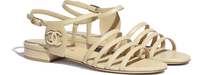 image 2 - Sandals - Lambskin - Beige