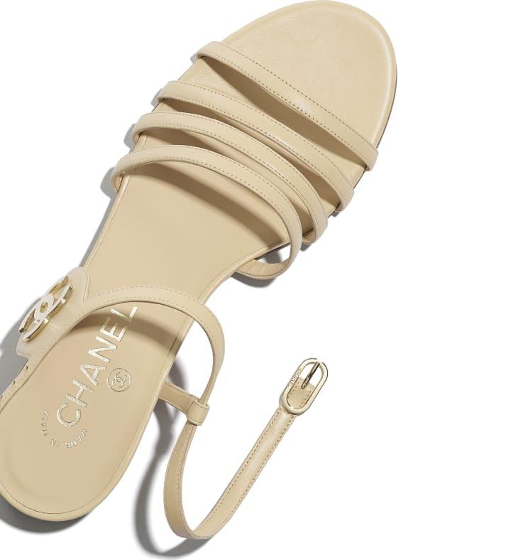 image 4 - Sandals - Lambskin - Beige