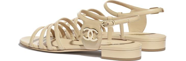 image 3 - Sandals - Lambskin - Beige
