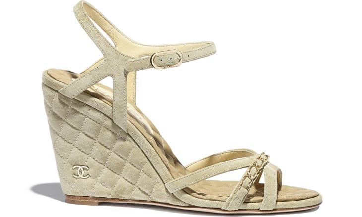 image 1 - Sandals - Suede Calfskin - Beige