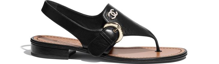image 1 - Sandals - Calfskin - Black