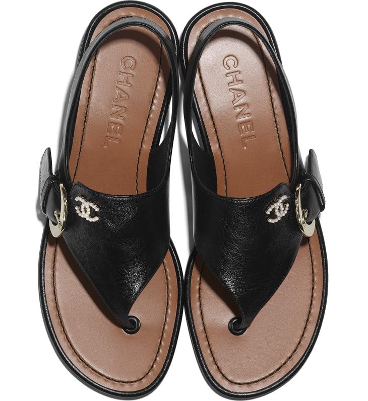 image 4 - Sandals - Calfskin - Black
