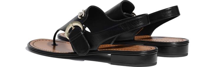 image 3 - Sandals - Calfskin - Black