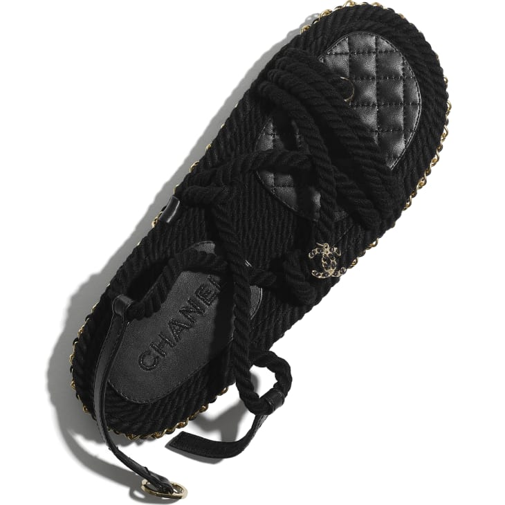 image 4 - Sandals - Cord - Black