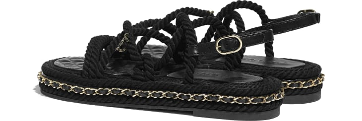 image 3 - Sandals - Cord - Black