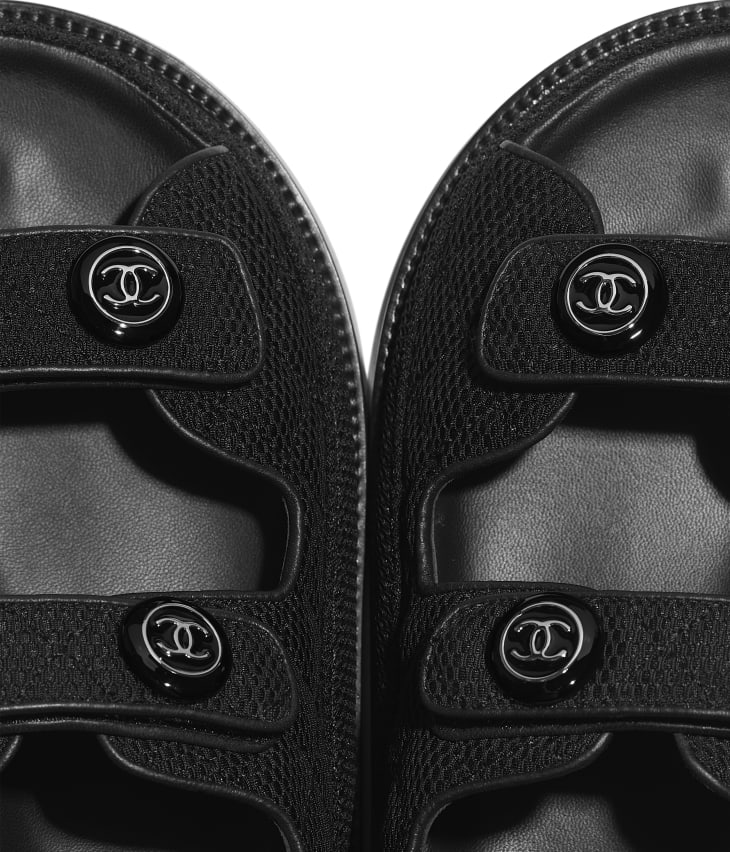 image 4 - Sandals - Fabric - Black