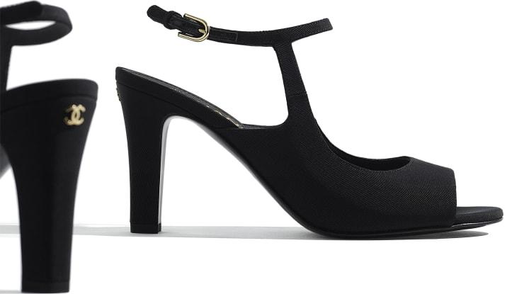 image 4 - Sandals - Grosgrain - Black