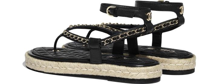 image 3 - Sandals - Lambskin - Black