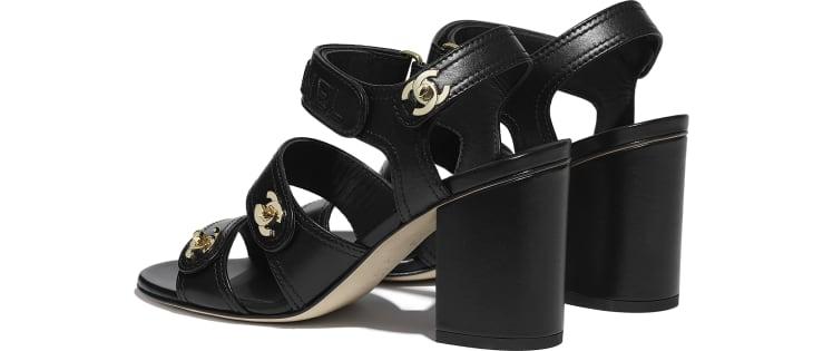 image 3 - Sandales - Agneau - Noir