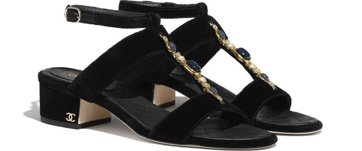 image 2 - Sandals - Velvet - Black