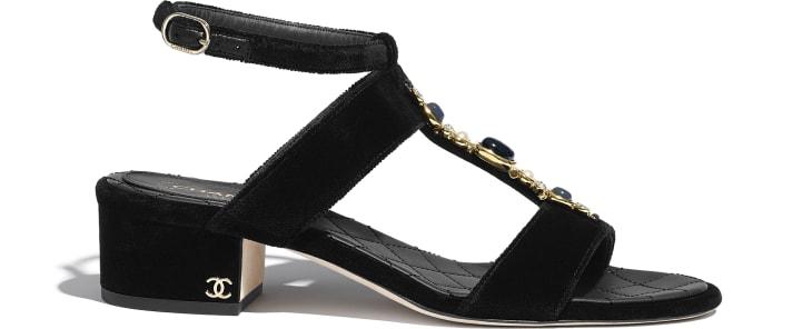 image 1 - Sandals - Velvet - Black