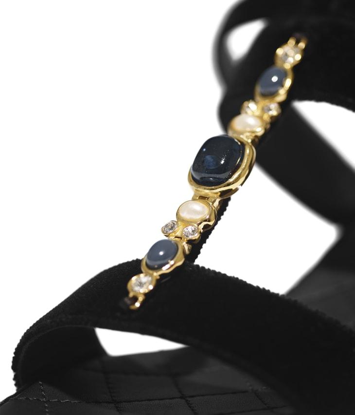 image 4 - Sandals - Velvet - Black