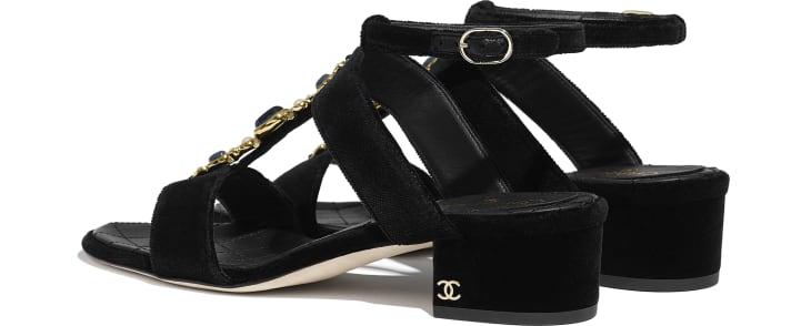 image 3 - Sandals - Velvet - Black