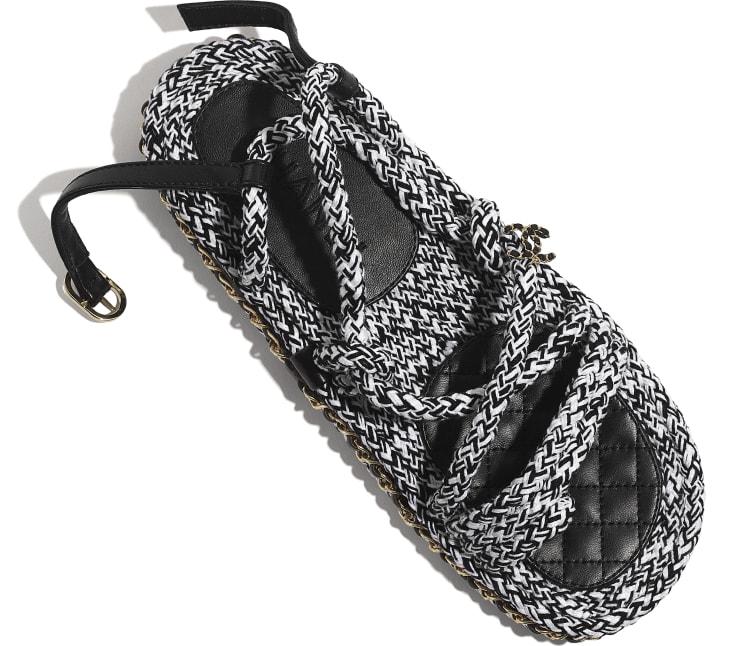 image 4 - Sandales - Corde - Noir & blanc